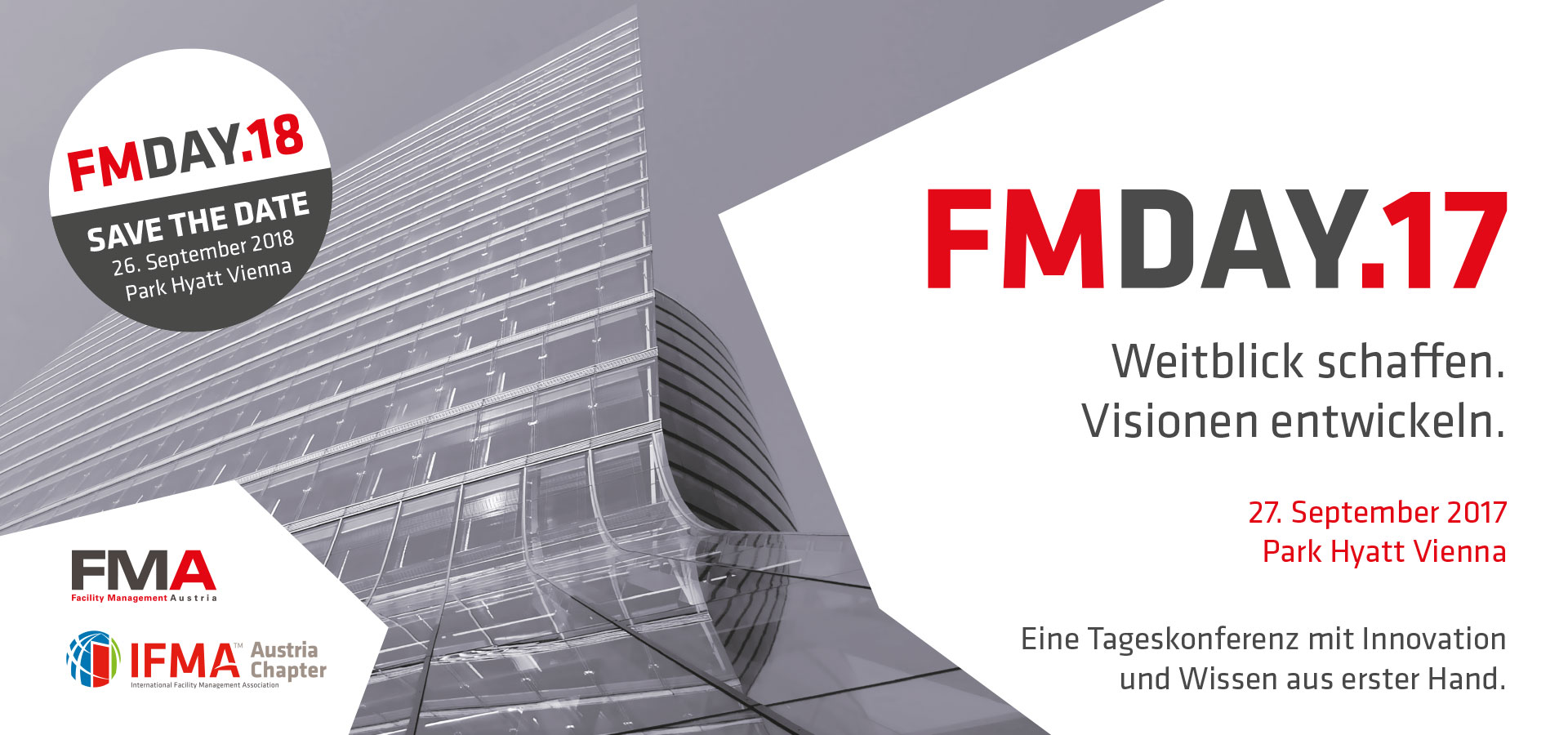 FM-Day - Save the Date 26. September 2018 Park Hyatt Vienna