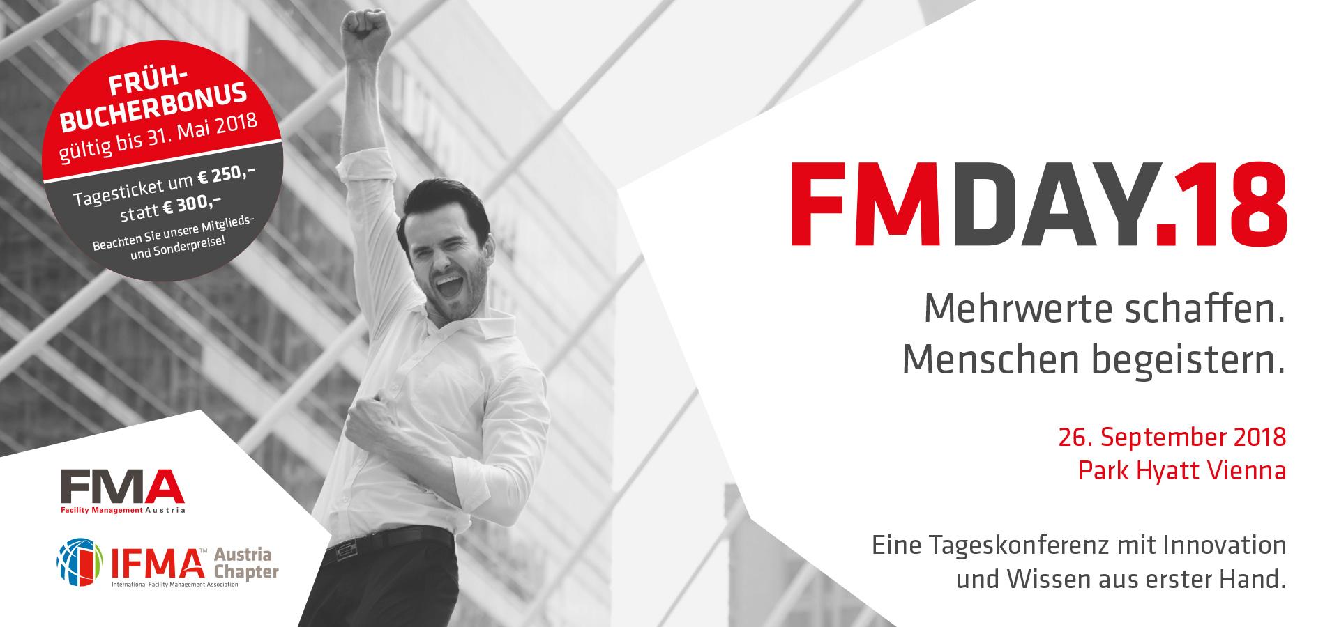 FM-Day - Save the Date 26. September 2018 Park Hyatt Vienna